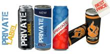 Energy Drink Privat Label 250 ml, 500 ml
