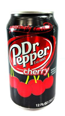 Dr Pepper Cherry 355ml Naturally &  Artificial ly Flavored, Made in USA.
