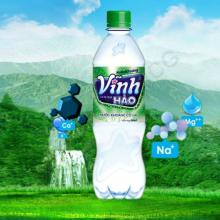 Mineral water Vinh Hao with gaz 500mlx6 bottles