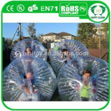 Free repair kits 0.8mm PVC or TPU bubble soccer ball, bubble football soccer