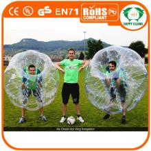 HI Exciting body game 0.8mm TPU/PVC inflatable giant bubble football ball,bumper ball,loopy ball