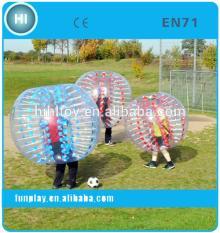 2014 crazy PVC colorful transparent bumper bubble football
