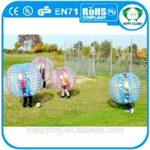 HI CE PVC/TPU Transparent bubble ball suit,inflatable bubble football,bubble ball football