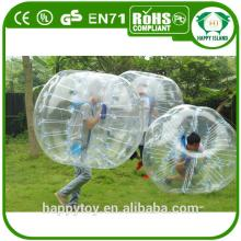 HI CE PVC/TPU Transparent soccer bubble,bumper ball,bubble football