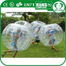 High quality 0.8/1.0mm PVC/TPU Colorful/Transparent bubble football, bubble soccer, bubble-suit