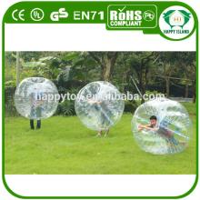HI EN14960 high quality funny inflatable belly bumper ball,bubble ball suit,bubble football