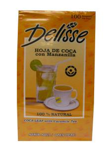 1 Box Tea Coca Leaf with Chamomile Delisse (100 bags)