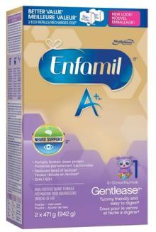 Enfamil A+ Gentlease Powder Refill Box, 942g