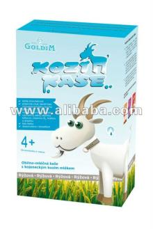 Baby rice cereal with goat milk formula