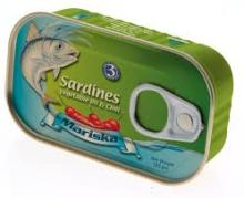 Canned sardines, Canned tuna, canned mackerel