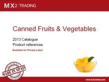 Spanish Canned fruits, vegetables & legums - Private Label - June'13