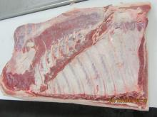 Belly bone-in rind-in wide cut class U