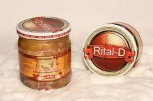 Stewed chicken hamGlass jar