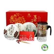 PuErh Tea - Pu-Erh Tea 2010 Colorful Yunnan Gift Packaging 3 Cake Pu-erh Tea 3*200g