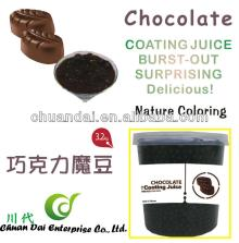 Taiwan bubble tea Chocolate coating juice boba