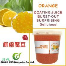 Taiwan bubble tea Orange coating juice boba