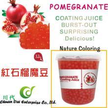 Taiwan bubble tea food Pomegranate coating juice boba