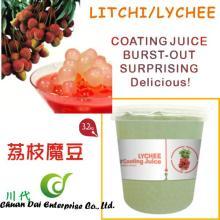 Taiwan bubble tea  Lychee /Litchi fruit coating  juice  boba