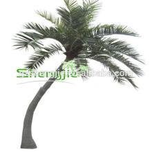SJAZZY14803 decorative coconut tree , indoor & outdoor artificial coconut tree (bent trunk )