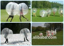 EN14960 approved human body inflatable bubbles for new football sports