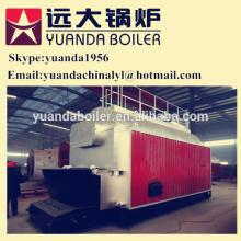 Grated coconut fired hot water boiler