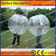 HOT!!PVC/TPU bubble football,dia 1.2m 1.5m 1.8m tpu soccer bubble
