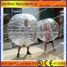 HOT!!PVC/TPU bubble football,tpu & pvc inflatable bubble soccer balls