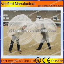 HOT!!PVC/TPU bubble football,grow in  water  balls\amazing  water  zorb ball for sale