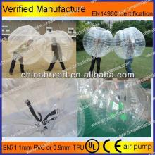 HOT!!PVC/TPU bubble football,human hamster body zorbs ball for sale