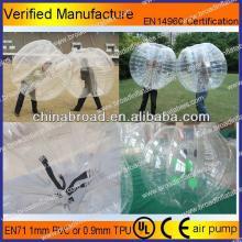HOT!!PVC/TPU bubble football,inflatable bumper ball water ball zorb ball pool