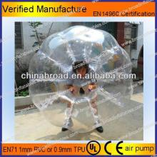 HOT!!PVC/TPU bubble football,funny zorb ball