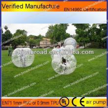 HOT!! PVC /TPU bubble football, custom   inflatable  bubble soccer for adult