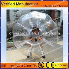 HOT!!PVC/TPU bubble football,inflate fun bounce ball
