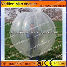 HOT!!PVC/TPU bubble football,custom inflatable football