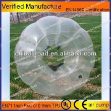 HOT!!PVC/TPU bubble football,plastic soccer ball