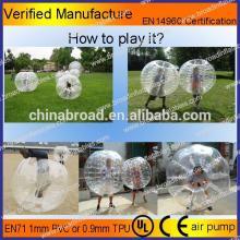 HOT!! PVC/TPU bubble football,soccer bubble,giant inflatable ball