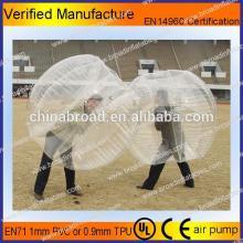 HOT!! PVC/TPU bubble football,soccer bubble,funny adult inflatable bumper ball