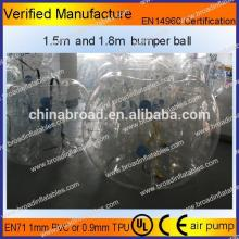 HOT!! PVC/TPU bubble football,soccer bubble,clear plastic ball
