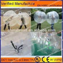 HOT!! PVC/TPU bubble football,soccer bubble,bouncing balls with flashing light