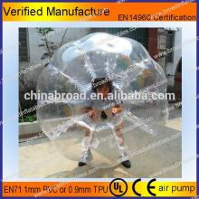HOT!! PVC/TPU bubble football,soccer bubble,rubber playground ball