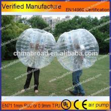 HOT!! PVC/TPU bubble football,soccer bubble,inflatable hamster ball pool