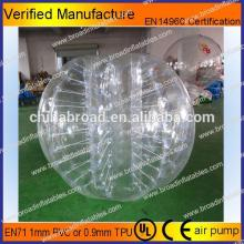 HOT!! PVC/TPU bubble football,soccer bubble,solid rubber balls