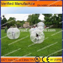 HOT!! PVC/TPU bubble football,soccer bubble,giant inflatable soccer ball