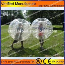 HOT!! PVC/TPU bubble football,soccer bubble,balls bouncing rubber