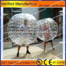 HOT!!PVC/TPU bubble football,funny inflatable bumper ball