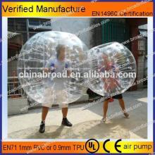 HOT!! PVC/TPU bubble football,soccer bubble,inflatable giant beach ball