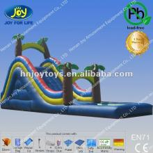CE Inflatable Tropical  Zone  Slide with Coconut Tree