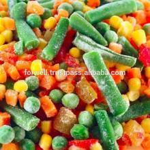 IQF MIX VEGETABLES ( Frozen Beans - peas- Carrots ...)