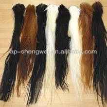 chinese black, mixed, white, brown horse tail extension