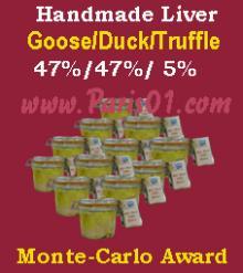Awarded Luxural Handmade Goose Duck Truffle Liver (Foie Gras)